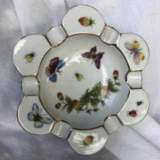 1950s Ardalt Flower Shaped Hand Painted Lenwile China Butterfly Ashtray Preview