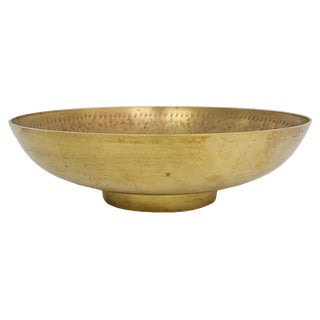 Engraved Brass Bowl For Sale