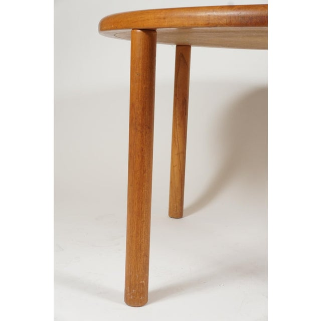 Wood Tue Poulsen Designed Ceramic Tile Dining/ Dinette Teak Table by Haslev For Sale - Image 7 of 10