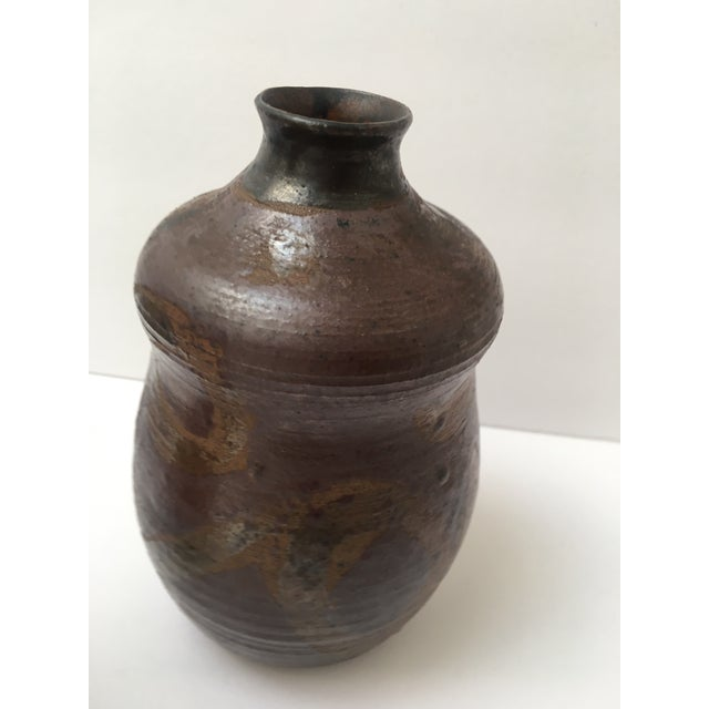 Fun studio pottery vase with a great glaze! Perfect with or without flowers~