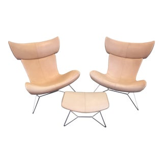 Bo-Concepts Imola Chairs and Ottoman - Set of 3 For Sale
