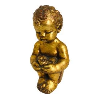 1960s Vintage Venetian Style Chalkware Child Figurine For Sale