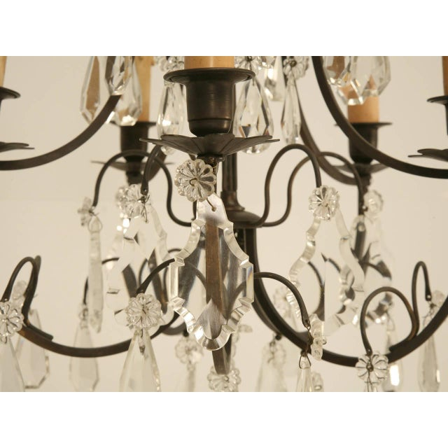 1930s French Vintage Five-Light Bronze Chandelier For Sale - Image 5 of 10