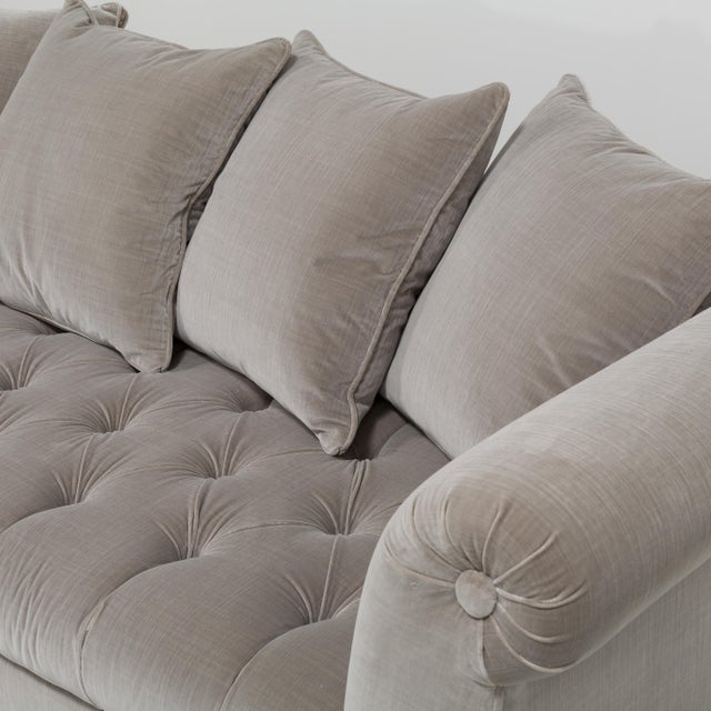 Tan Customizable The Deep Buttoned Sofa by Talisman Bespoke For Sale - Image 8 of 11