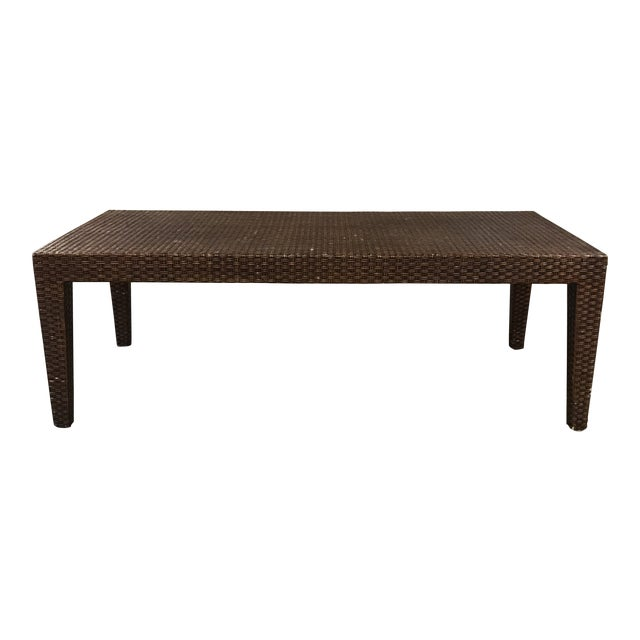 Vintage Mitchell Gold + Bob Williams Wicker Coffee Table For Sale