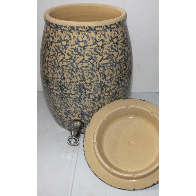 Early 20th Century 20th Century Ransbottom Spongeware Water Cooler For Sale - Image 5 of 5