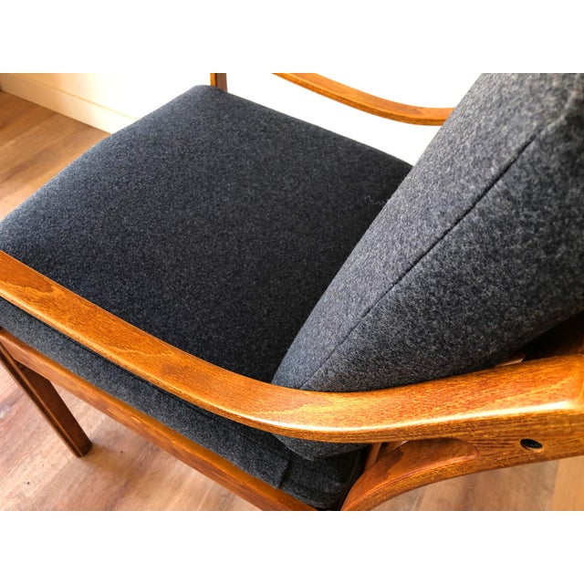Wood Danish Mid-Century Modern Side Chair by j.m. Birking For Sale - Image 7 of 13