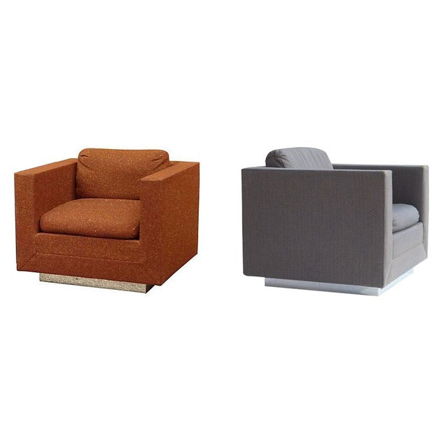 Stow & Davis Cube Club Chairs - A Pair - Image 1 of 8