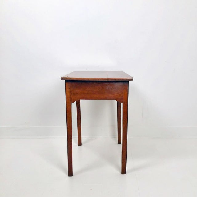 Late 18th Century Chippendale Mahogany One Drawer Table, England Circa 1780 For Sale - Image 5 of 7
