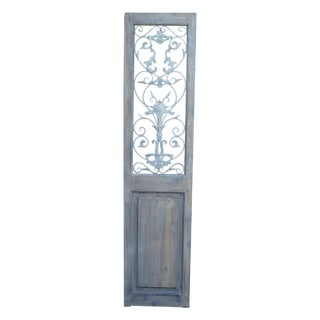 Metal Embellished Door Panel For Sale