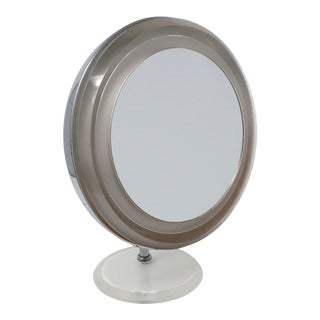 Vintage Lucite and Chrome Adjustable Tabletop Mirror For Sale