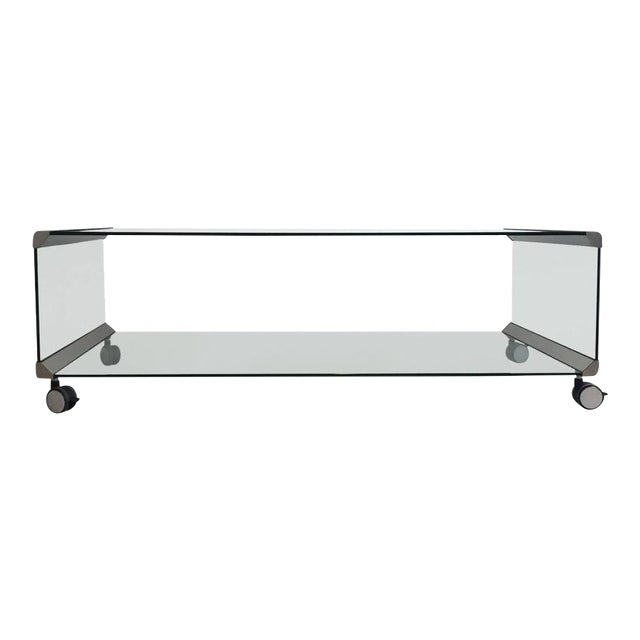 Chrome and Glass Coffee Table, by Pierangelo Galotti for Galotti & Radice, 1975 - Image 1 of 7