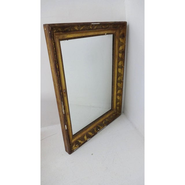 Antique French Gilded Mirror For Sale - Image 4 of 7