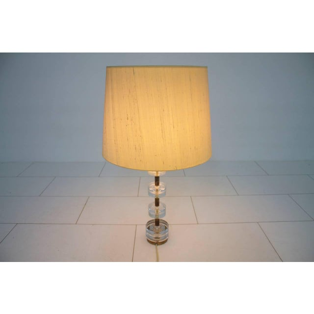 Luxus Brass and Glass Table Lamp by Luxus Sweden, Circa 1960s For Sale - Image 4 of 9
