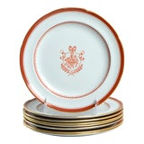 Image of Spode Newburyport Red (Gold Trim) Salad Plate Set of 8 For Sale