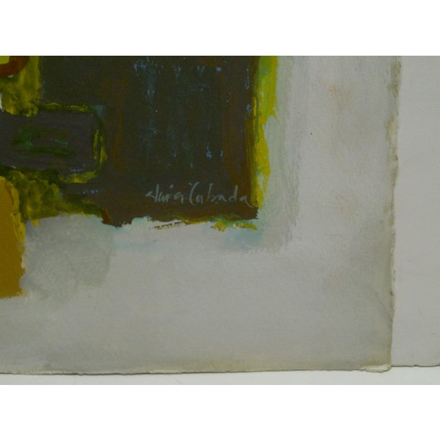 """Original Painting on Paper """"The Actors (Performing)"""" by Javier Cabada For Sale In Pittsburgh - Image 6 of 8"""