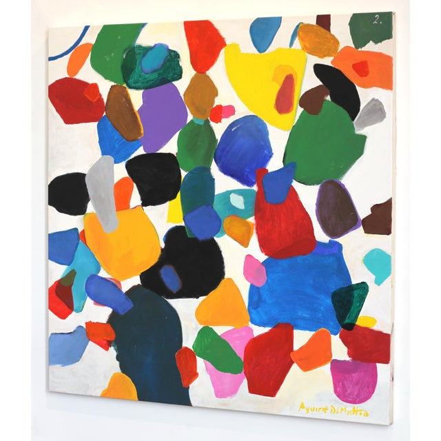 "Leonardo Aguirre ""2 Full Colors"" Original Painting For Sale In Los Angeles - Image 6 of 8"