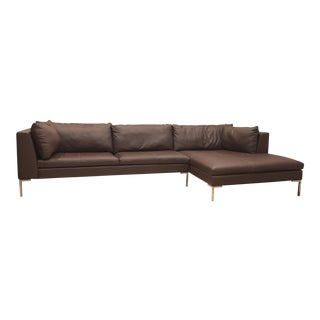 American Leather Inspiration L-Shape Couch For Sale