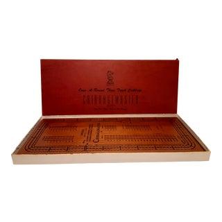 Drueke Cribbage Board Game Circa 1950's For Sale
