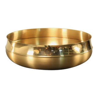 Handmade Brass bowl by Tapio Wirkkala for Kultakeskus Oy For Sale