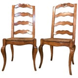 Image of Set of Six Country French Rush Seat Dining Room Chairs For Sale