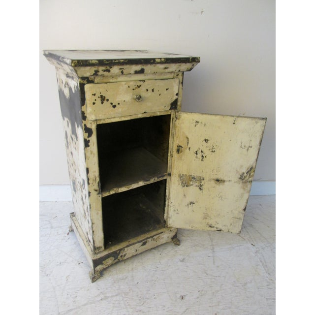 Antique French Shabby Chic Nightstands - A Pair - Image 4 of 10