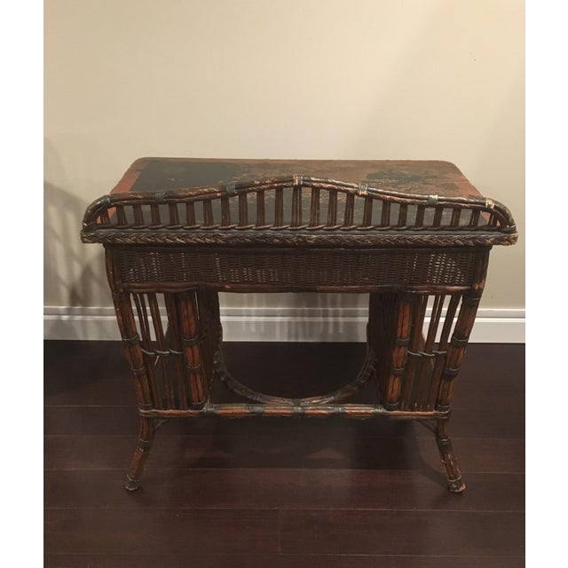 Antique Wicker Desk and Chair For Sale - Image 9 of 13 - Antique Wicker Desk And Chair Chairish
