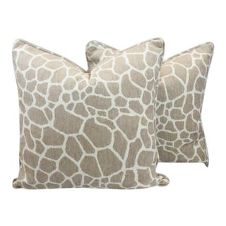 Kipenzi Sandstone Giraffe Fabric Pillows - a Pair
