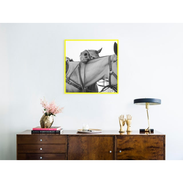 Contemporary Friendship by Holly Roesch Contemporary Photograph in Yellow Acrylic Frame, Medium For Sale - Image 3 of 4
