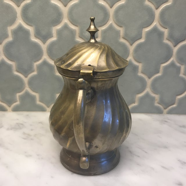 Art Deco Art Deco Swirl Silver Plated Tea Pot For Sale - Image 3 of 6
