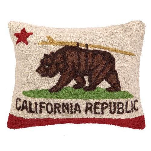 This is a California bear hook pillow.