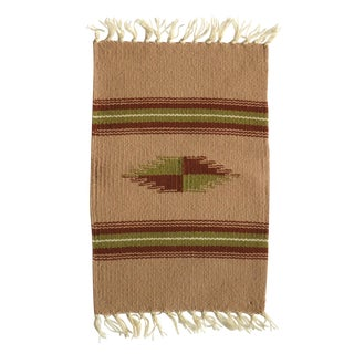 Vintage Chimayo Weaving Small Mat