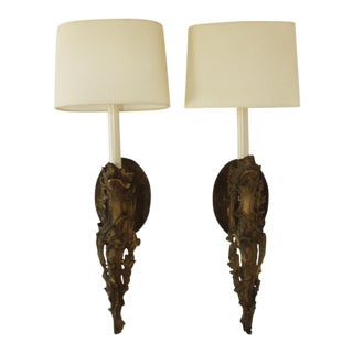 Neoclassical French Avoir Ormolu Wall Sconces - a Pair
