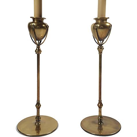 Chapman Brass Table Lamps - A Pair - Image 2 of 6