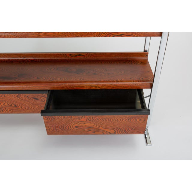 Zebrawood and Chrome Bookshelf by Peter Protzmann for Herman Miller For Sale - Image 11 of 13