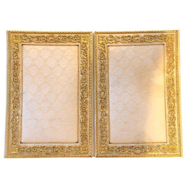 Fine Gilt Bronze and Fabric Fold Desk Blotter Possibly J Caldwell - a Pair For Sale - Image 13 of 13