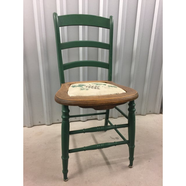 Antique Kitchen Table With Hand Painted Chairs - Set of 5 - Image 8 of 10