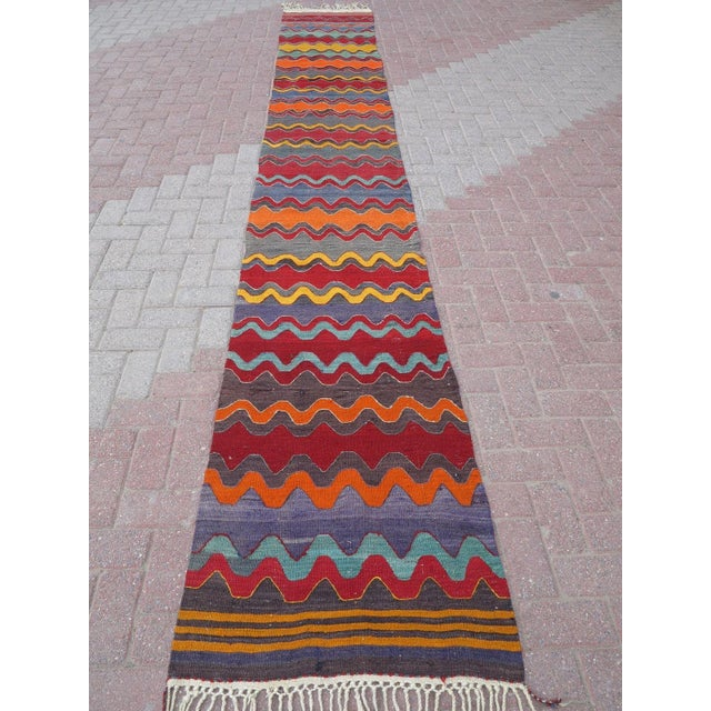 Vintage Turkish Oversized Kilim Runner - 2′2″ × 15′8″ - Image 3 of 11