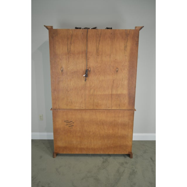 Woxall Woodcraft Hand Crafted Solid Cherry China Cabinet Hutch For Sale In Philadelphia - Image 6 of 12