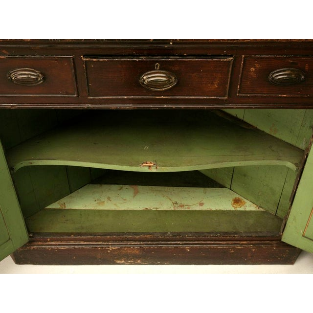 Circa 1780 Antique English Georgian Faux Grained Pine Corner Cupboard For Sale - Image 9 of 10