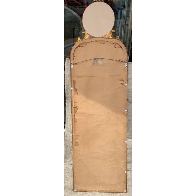 Wood Friedman Brothers Trumeau Style Mirror For Sale - Image 7 of 9