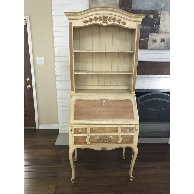 Gorgeous Thomasville Secretary Desk And Hutch In Its Original Finish It Features Three Shelves 2