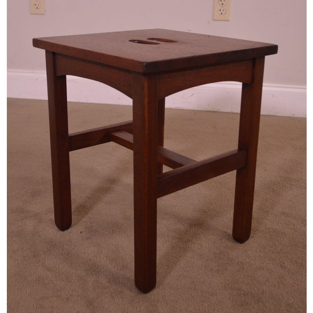 Antique Mission Style Mahogany Taboret Side Table For Sale In Philadelphia - Image 6 of 13