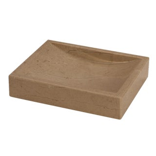 Tan Marble Soap Dish For Sale
