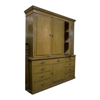 19th Century English Housekeeper Cupboard For Sale