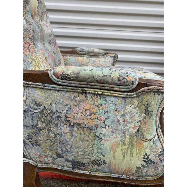 Gorgeous, custom-made, antique floral and walnut chairs. Bright colors and sturdy seats. Comfortable and clean, with...