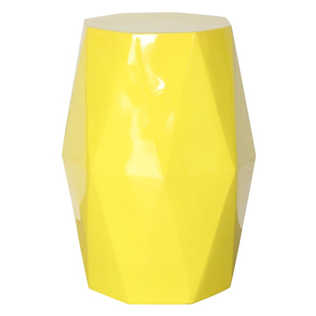 Abstract Selamat Designs Gemma Yellow Lacquer Spot Table For Sale - Image 3 of 3