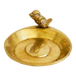 Vintage Brass Bird Dish For Sale