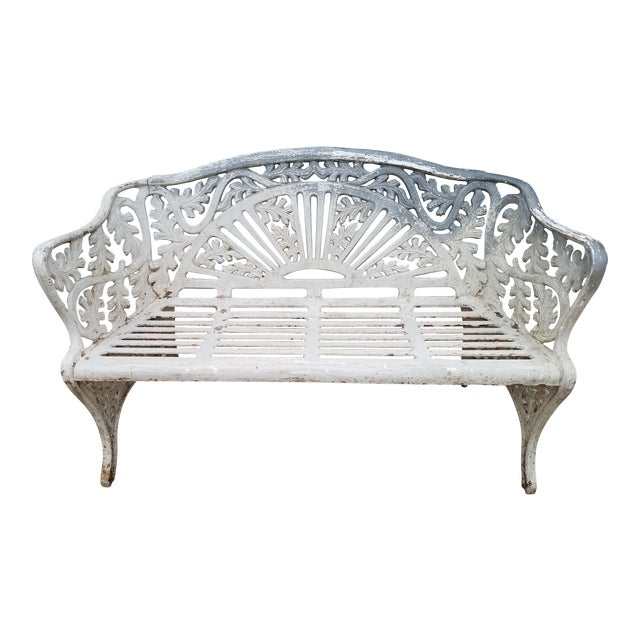 Cast Iron Antique Garden Bench For Sale