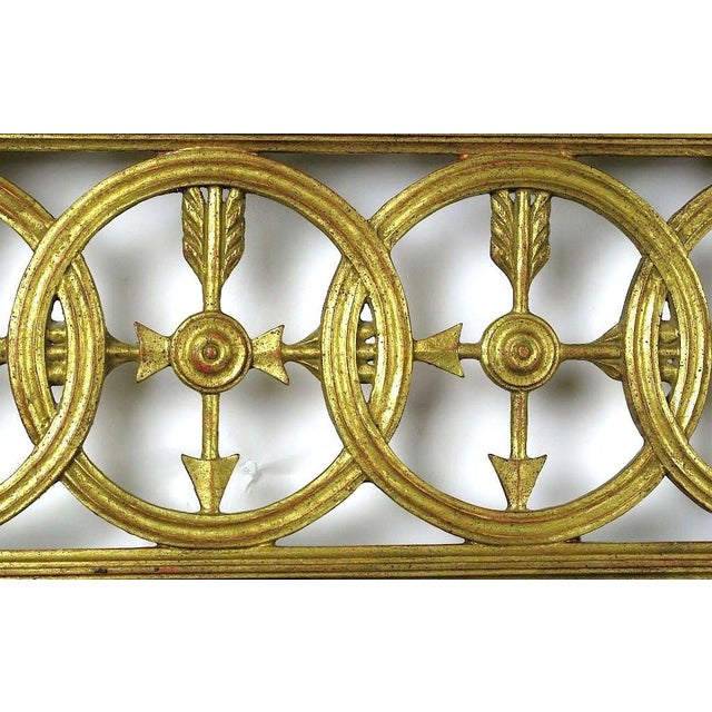 Large Italian Empire Gilt Mirror For Sale - Image 4 of 7